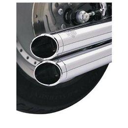 Vance & Hines Exhaust End Cap Slash Billet Big Shot Chrome For Harley Metallic