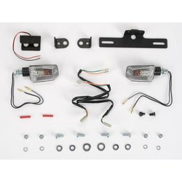Black Mount/clear Lens Targa Tail Kit With Signals Black For Kawasaki Zx-10r 08-09