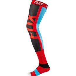 Fox Racing Mens Seca Knee Brace Socks Red