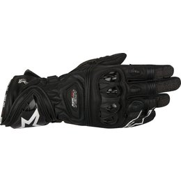 Alpinestars Mens Supertech Leather Riding Gloves Black