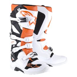 White, Orange Alpinestars Mens Tech 7 Enduro Boots 2014 Us 7 White Orange