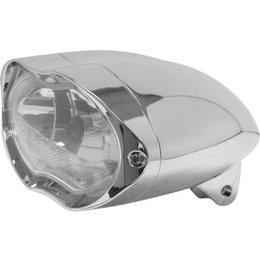 Biker's Choice Billet Aluminum Sunray Headlight Chrome 161226 Unpainted
