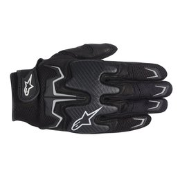 Black Alpinestars Mens Fighter Air Leather Textile Gloves 2014