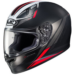 HJC FG-17 FG17 Valve Full Face Motorcycle Helmet With Flip Up Shield Red