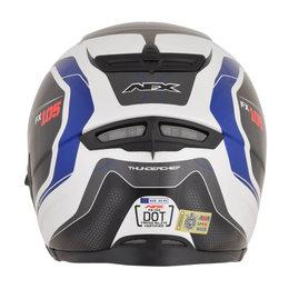 AFX FX-105 FX105 Thunderchief Full Face Helmet Blue