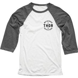 Thor Mens Outfitters 3/4 Sleeve Raglan T-Shirt White