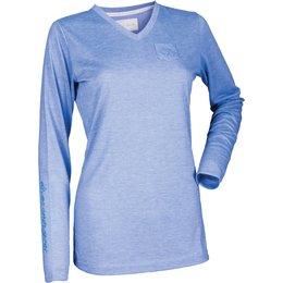 Divas Womens Simple Long Sleeve T-Shirt Blue
