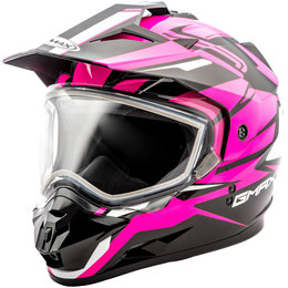 GMAX Womens GM11 GM-11 Vertical Snowmobile Helmet With Dual Pane Shield Black