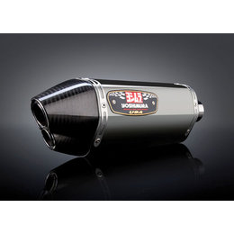Stainless Steel Mid Pipe/stainless Steel Muffler/carbon Fiber End Cap Yoshimura R-77d 3 4 System With Dual Outlet Ss Ss Cf For Honda Cb1000r 2011-13