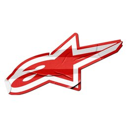 Alpinestars 5 Inch Sticky Logo Sticker Decal Each Red
