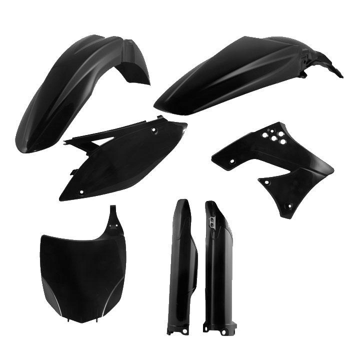 Black Acerbis Fork Cover Set 94-03 KAWASAKI KX250