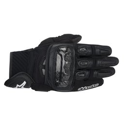 Black Alpinestars Mens Gp-air Leather Gloves 2014