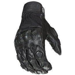 Black Joe Rocket Mens Speedway Leather Textile Gloves 2014