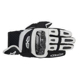 Black, White Alpinestars Mens Gp-air Leather Gloves 2014 Black White