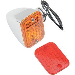 Drag Specialties Rectangular Mini Marker Light For Harley Chrome DS-280163