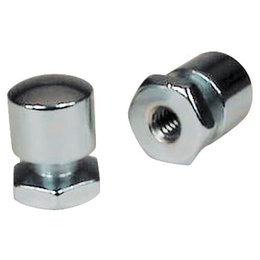 Mustang Motorcycle Solo Seat Mounting Nuts Pair Chrome FLHR FLST FXST