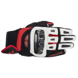 Black, White, Red Alpinestars Mens Gp-air Leather Gloves 2014 Black White Red