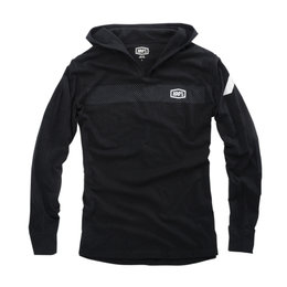 100% Mens Lightweight Gravel Cotton Blend Pullover Hoodie Black