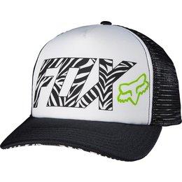 Fox Racing Womens Phoenix Snapback Adjustable Trucker Motocross Hat White