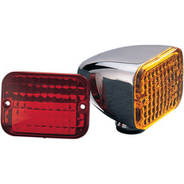 Drag Specialties Rectangular Dual Function Marker Light Chrome DS-280169