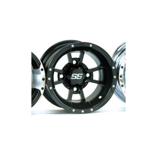 Matte Black 10x5 1028334536B 3+2 ITP SS112 Sport Aluminum Wheel 4//144