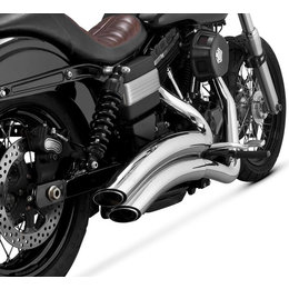 Vance & Hines Super Radius 2 Into 2 Dual Exhaust System For Harley Dyna 26053