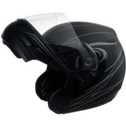 Flat Black Gmax Gm44 Derk Flip Up Helmet Fl Black Silver