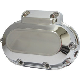 HardDrive Smooth 6-Speed Transmission Side Cover For Harley Chrome 302226 Silver