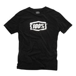 100% Mens Static Cotton Blend Graphic T-Shirt Black