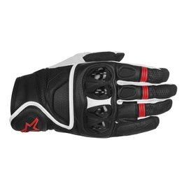 Black, White, Red Alpinestars Mens Celer Leather Gloves 2014 Black White Red