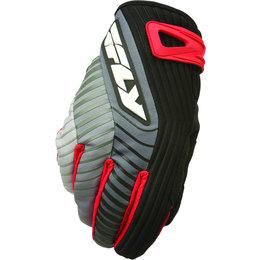 Black, Red Fly Racing Mens Title Short Gloves 2014 Black Red