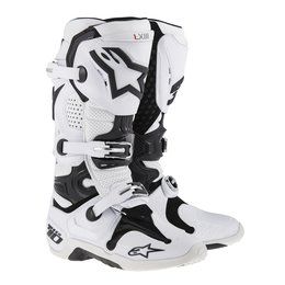 White Alpinestars Mens Tech 10 Vented Boots 2014 Us 7