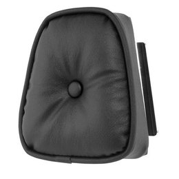 Black Khrome Werks Round Pillow Sissy Bar Pad For Harley