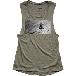 Thor Womens Induction Drop Armhole Tank Top Green