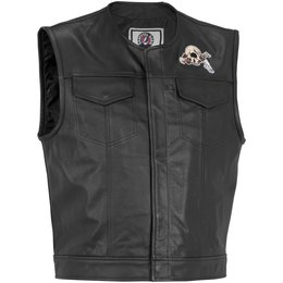 Black River Road Mens Grateful Dead Cyclops Leather Vest 2013