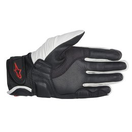 White, Black, Red Alpinestars Mens Celer Leather Gloves 2014 White Black Red