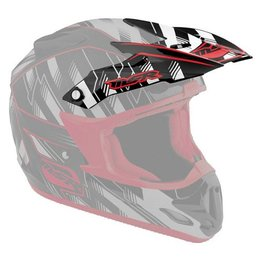 White, Red Msr Replacement Visor For 2012 Velocity Legacy Helmet White Red
