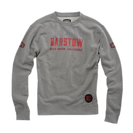 100% Mens Brymann Cotton Blend Fleece Pull-Over Crewneck Sweatshirt Grey