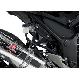 Black Yoshimura Muffler Bracket Kit For Kawasaki Ninja 300 2013