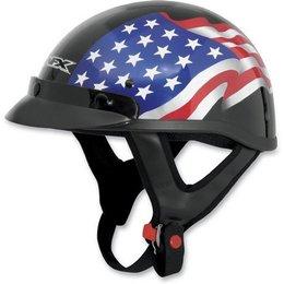 Black Afx Mens Fx-70 Fx70 Freedom Half Helmet