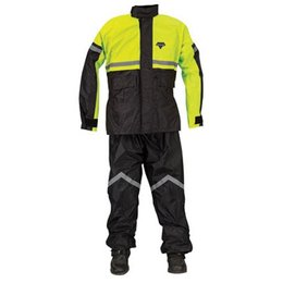 Black, Hi Vis Yellow Nelson-rigg Sr-6000 Stormrider Two Piece Rainsuit Black Hi Vis Yellow