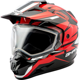 GMAX GM11 GM-11 Vertical Snowmobile Helmet With Dual Pane Shield Black