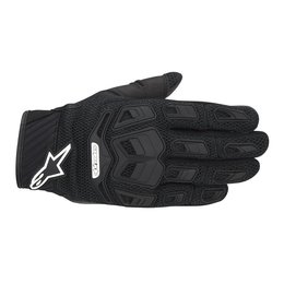 Black Alpinestars Mens Atacama Air Textile Gloves 2014