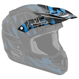 Black, Cyan Msr Replacement Visor For 2012 Velocity Legacy Helmet Black Cyan