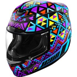 Icon Womens Airmada Georacer Full Face Helmet Multicolored