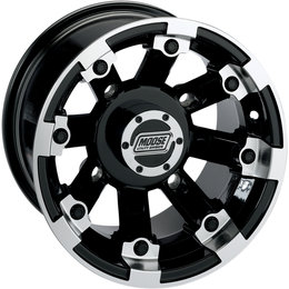 Moose Racing 393X UTV Rear Wheel 15x8 4/136 4+4 Can-Am Gloss Black 0230-0537 Black