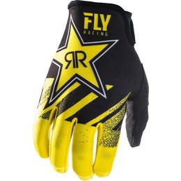 Fly Racing Mens Lite Hydrogen Rockstar Gloves Yellow