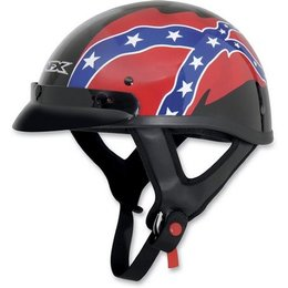 Black Afx Mens Fx-70 Fx70 Rebel Half Helmet