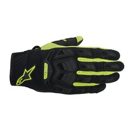 Black, Fluorescent Yellow Alpinestars Mens Atacama Air Textile Gloves 2014 Black Fluorescent Yellow