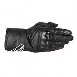 Black Alpinestars Sp-8 Leather Gloves 2013